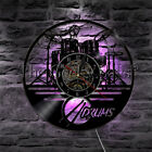 Drum Kit Vinyl Record Wall Clock Musical Instrument Wall Clock Rock Drummer Gift
