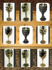 Gothic Skull Goblet Chalice Skull & Armour Goblet Pagan Alter Table Halloween image
