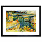 Van Gogh Bridges Across Seine At Asnieres 1887 Framed Wall Art Print
