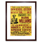 Music Ad Hank Williams New Year Jamboree USA Framed Art Print 9x7 Inch