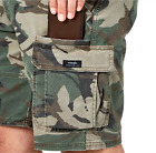 Mens Wrangler Camo Cargo Shorts w Flex Relaxed Fit Flat Front ALL SIZES 34 54
