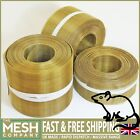Pure Coarse Brass Soffit Rodent Airbrick Mesh (16 LPI x 0.375mm Wire) ECONOMY