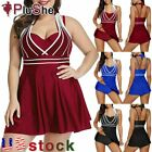 Womens Plus Size Tankini Sets Swimwear Swim Skirt High Waist Bathing Suit XL-5XL