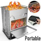 Newest Stainless Steel Folding Camping Wood Stove Kit For Cooking BBQ Outdoor