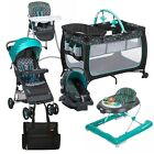Baby Stroller Car Seat Travel System  with Playard Walker Hi-Chair Bag Combo