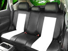 PU Leather Non-Slip Rear Car Seat Cushion Covers for Dodge Bk/White $56.24 CAD on eBay