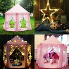 Princess Castle Play Tent Kid Pink Playhouse Toys/Gift For Girls In/Outdoor Play