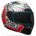 Bell Qualifier STD Tagger White / Black / Red Splice Motorcycle Motorbike Helmet