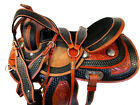 15 16 USED RODEO SADDLE WESTERN HORSE BARREL RACING PLEASURE FLORAL TOOLED TACK