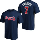 Dansby Swanson Atlanta Braves Majestic Official Name & Number T-Shirt on Ebay