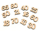 Wooden Numbers Coming Of Age Birthday Numbers Celebration Joined Numbers 25mm