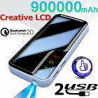 900000mAh LCD LED Battery Charger Portable Power Bank for Smart Phone