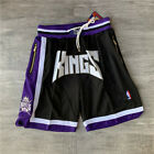Mens Sacramento Kings Just Don Black Shorts Jersey Purple size S-2XL
