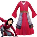 Kid Girls Heroine Hua Mulan Costume Book Day Cosplay Jumpsuits Party Fancy Dress