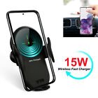 15W Qi Wireless Charger Auto Car Phone Holder For Samsung S20+/S10 iPhone 11 XR