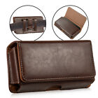 Genuine Leather Magnetic Holster Belt Clip Pouch Case Cover For Large iPhone SS