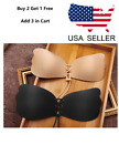 Womens Silicone Invisible Push Up Strapless Bra Backless Self-Adhesive Gel Stick