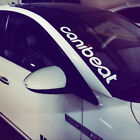 Canibeat Vinyl Reflective Car Auto Front Windshield Decal Sticker Window White