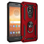 For Motorola Moto E5 Play/Cruise Shockproof Armor Ring Stand TPU Hard Case Cover