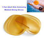 1 Pair Adult Kids Swimming Webbed Diving Gloves Training Swimming Paddle Fins Ut