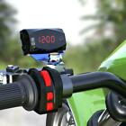 2 in1 LED Electronic Digital Time Clock Thermometer For Motorcycle 12V Volt U7W5