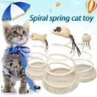 979D Small Fish Elastic Spring Mouse Funny Cat Toy Home Bottom Sucker Sturdy