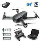Blessed Stone Brushless Drone HS720 2K Camera Foldable 5G FPV GPS Quadcopter +CASE