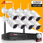 ANRAN 8CH 1080P Wireless Outdoor Security Camera System P2P NVR with 2TB HDD APP for sale  Shipping to Nigeria