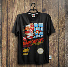 Super Mario Brothers Retro NES Game Cover Nintendo Vintage SNES | T-Shirt image