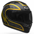 New Bell Qualifier STD Scorch Black / Gold Flake Motorcycle Motorbike Helmet