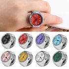 Fashion Multicolor Women Quartz Finger Ring Watch Creative Steel Tone Round Dial image