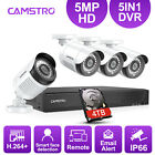CAMSTRO H.264+ HD 5MP Video Security Camera System 4CH DVR Smart Face Detection