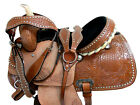 TRAIL SADDLE WESTERN HORSE 15 16 PLEASURE SHOW FLORAL TOOLED LEATHER PACKAGE