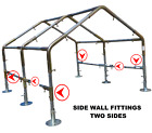 "Greenhouse Kit 1-1/2"" Low Peak Canopy FITTINGS ONLY ≤20'x/20/30/40/50/60' Garden"