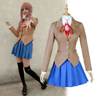 Sayori Yuri Natsuki Monika Outfit Cosplay Costume Full Set School Uniform Dress
