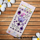 Self Adhesive Glitter Rhinestone White Crystal Stickers Diamond Gem Decal Phone