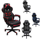 Racing Style Home Office Gaming Working Chair Ergonomic Leather Swivel Recliner
