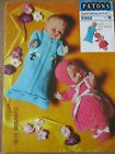 VARIATION OF VINTAGE DOLLS CLOTHES KNITTING PATTERNS  (NOT A COPY)
