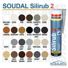 Soudal Silirub 2 Premium Quality LM Silicone Sealant Neutral Cure All Colours