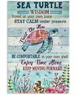 Sea Turtle Wisdom Travel At Your Own Pace Poster Art Print Gift For Turtle Lover