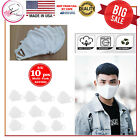 Washable 100% Cotton Face Mask Reusable, White 3/5/10 Pcs In 1 Pack Made In Usa
