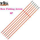3/6x 32'' 8mm Fiberglass Shaft Bow Fishing Shoot Arrows For Compound Bow Arrow