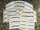 SAN DIEGO CHARGERS Vintage Bumper Football Helmet Decal Set Qty (1) Set 3M 20MIL $6.99 USD on eBay