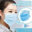 50/100/200/500 PCS Disposable Face Mask 3-Ply Non Medical Surgical Earloop Cover