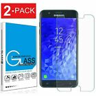 2 Pack For Samsung Galaxy J3 Orbit/Star/V 2018 Tempered Glass Screen Protector