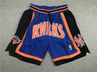 New York Knicks Blue Basketball Shorts All sewn on eBay