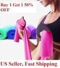 US 1.5m Yoga Exercise Fitness Elastic Strap Band Sports Stretch Resistance Belt image