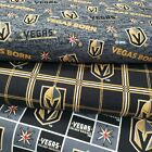 "Las Vegas Golden Knights Cotton Fabric by the 1/4,1/2,Yard for FACE MASK 42-44""W $11.99 USD on eBay"