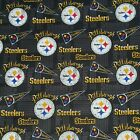 "NFL Football Cotton Fabric By The 1/4 Yard - PICK TEAM - for Face Mask 44""-58""W"