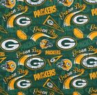 """NFL Football Cotton Fabric By The 1/4 Yard - PICK TEAM - for Face Mask 44""""-58""""W"""